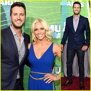 Luke Bryan & Wife Caroline Boyer Are Picture Perfect at CMT Music Awards 2015 Red Carpet