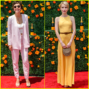 Maggie Gyllenhaal & Emma Roberts Celebrate Summer At The Veuve Polo Classic 2015