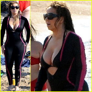 Mariah Carey Shows Off Lots of Cleavage After James Packer Romance News