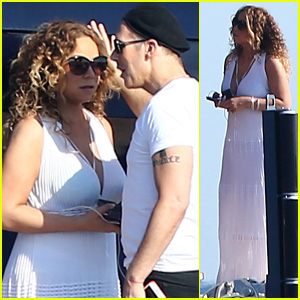 Mariah Carey Enjoys Sunny Day on James Packer's Yacht