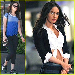 Megan Fox Channels Super Sexy Schoolgirl on 'TMNT 2' Set!
