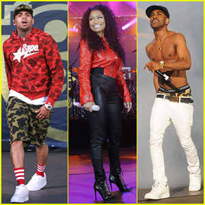 Nicki Minaj, Chris Brown & Shirtless Big Sean Hit The Stage at Summer Jam 2015!