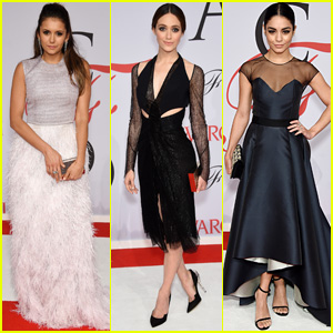 Nina Dobrev & Emmy Rossum Show Off Stunning Style at CFDA Awards 2015 With Vanessa Hudgens