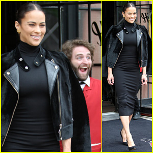 Paula Patton Gets Photobombed By Hotel Doorman in NYC!