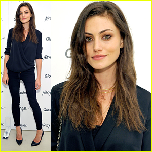Phoebe Tonkin Goes Glam For Glossier Pop Up Shop Event