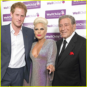 Prince Harry & Lady Gaga Meet For First Time at WellChild Charity Concert