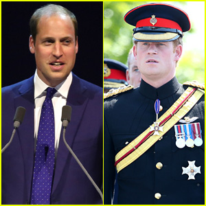 Prince William & Prince Harry Step Out for Separate Events