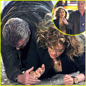Ray Liotta Shields Jennifer Lopez From Glass Shatter On 'Shades Of Blue' Set