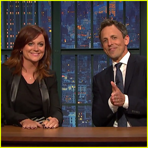 Seth Meyers & Amy Poehler Reunite for 'Really?!' Segment on 'Late Night' - Watch Now!