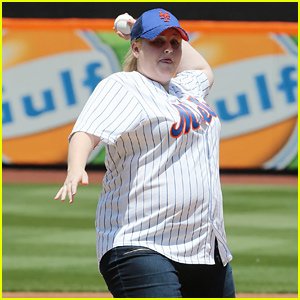 Rebel Wilson Throws First Pitch at the Mets Game - Watch Now!