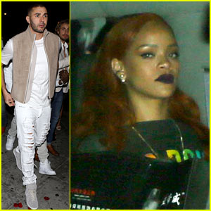Rihanna Steps Out for a Club Night with Rumored Boyfriend Karim Benzema
