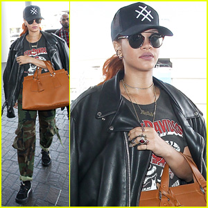Rihanna Jets Out of L.A. After Dinner Date With Karim Benzema
