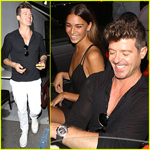 Robin Thicke & April Love Geary Are Grinning Ear-to-Ear During Romantic Dinner Date