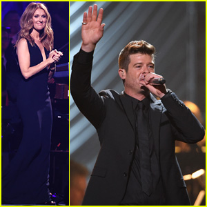 Robin Thicke & Celine Dion Show Off 'Power of Love' in Vegas
