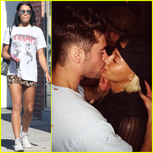 Sami Miro Smooches Zac Efron for National Kissing Day!