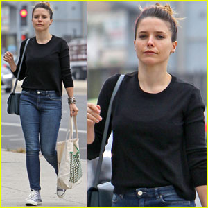 Sophia Bush Is a 'Devil In a Blue Dress' While Working on New Project
