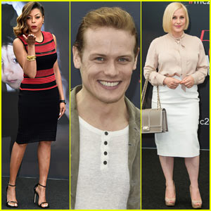 Taraji P. Henson & Sam Heughan Attend Photo Calls at Monte Carlo TV Festival 2015