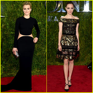Taylor Schilling & Amanda Seyfried Hit the Tony Awards Carpet!