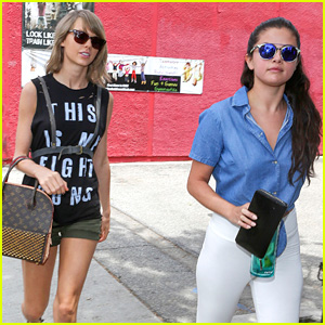 Taylor Swift Meets Selena Gomez for Lunch After Cruising Around With Boyfriend Calvin Harris