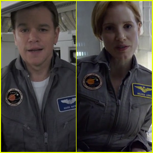 Matt Damon & Jessica Chastain Star as Astronauts in First Look at 'The Martian' - Watch Now!