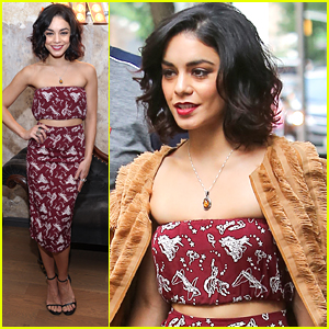 Vanessa Hudgens Wears Cowboy Themed Crop Top Outfit For 'Social Life' Mag Party