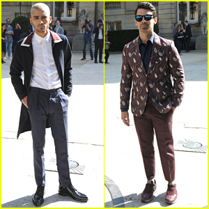 Zayn Malik & Joe Jonas Hit Up Valentino Show At Paris Fashion Week
