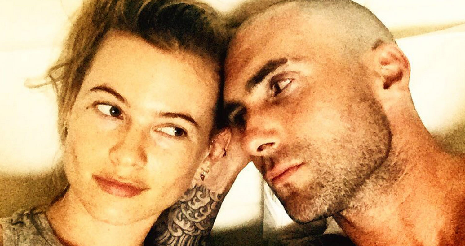 Behati Prinsloo Posts First Photo of Her Adorable New Baby with Adam Levine