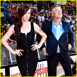 Alec Baldwin Imitates Daughter Ireland's Model Poses at 'Mission: Impossible' Premiere!