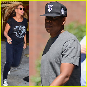 Beyonce Breaks into a Sprint While Leaving NYC Studio