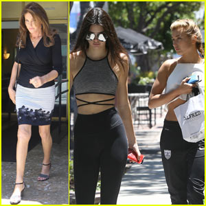Caitlyn Jenner Grabs Lunch with Kendall & Hailey Baldwin!