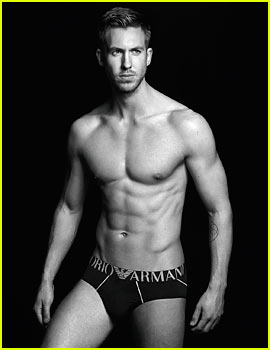 Calvin Harris Is Shirtless Sexy in New Armani Underwear Ad!
