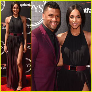 Ciara & Russell Wilson Match in Purple at ESPYs 2015