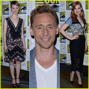 Jessica Chastain & Tom Hiddleston Take 'Crimson Peak' to Comic-Con!