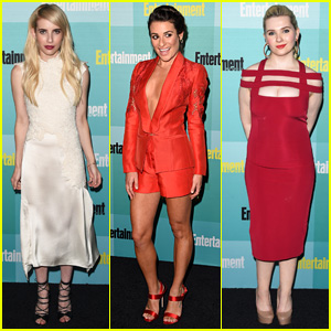 Emma Roberts & Lea Michele 'Scream' Gorgeous at EW's Comic-Con 2015 Party