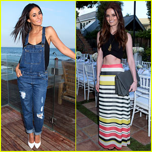 Emmanuelle Chriqui & Lydia Hearst Catch the Malibu Breeze at Just Jared & JustFab's Summer Dinner Party!