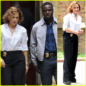 Jennifer Lopez Films 'Shades of Blue' Scenes With Dayo Okeniyi