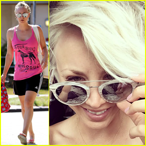 Kaley Cuoco Ditches Pink Hair & Goes Back to Blonde