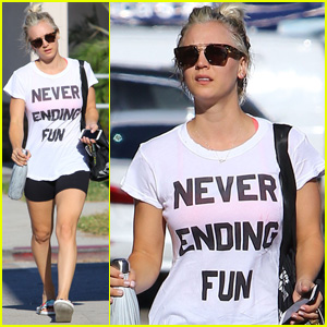 Kaley Cuoco Kicks Off Her Week With Some 'Never-Ending Fun'