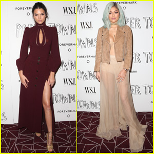 Kendall & Kylie Jenner Pair Up for 'Paper Towns' Screening