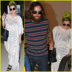 Kesha Holds Hands With Boyfriend Brad Ashenfelter at LAX