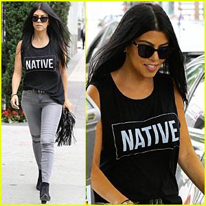 Kourtney Kardashian Gets Around the House in Style