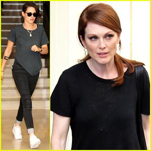 Kristen Stewart & Julianne Moore Prep for Paris Fashion Week!