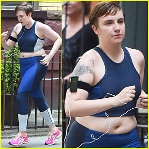 Lena Dunham Gets Pumped for the Launch of Lenny Letter