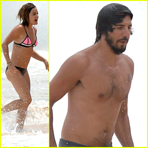 Lucy Hale Stuns In Neon Bikini With Anthony Kalabretta in Maui