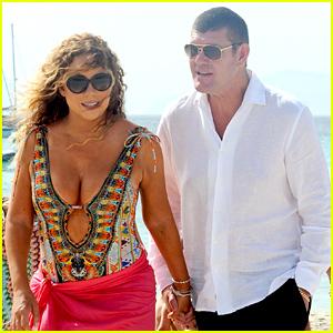 Mariah Carey & James Packer Hold Hands For Their Beachside Walk
