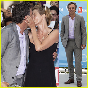 Mark Ruffalo & Wife Sunrise Coigney Show Off Major PDA at Giffoni Film Festival 2015!