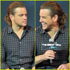 Matt Damon Debuts a Ponytail at a Press Conference in China!