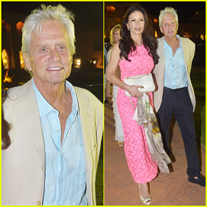 Michael Douglas & Catherine Zeta-Jones Have Romantic Italy Evening with Natalie Imbruglia!