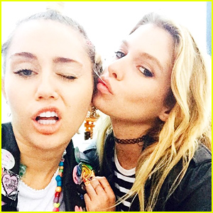 Miley Cyrus Spotted Making Out with Victoria's Secret Model Stella Maxwell