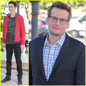 Nat Wolff Steps Out At 'Paper Towns' Photo Call In Rio With John Green